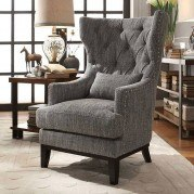 Adriano Accent Chair w/ Kidney Pillow
