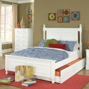 Morelle Captain Bed w/ Trundle (White)
