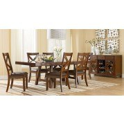 Omaha Dining Room Set (Brown)