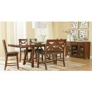 Omaha Counter Height Dining Set w/ Bench (Brown)