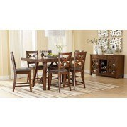 Omaha Counter Height Dining Room Set (Brown)