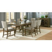 Omaha Dining Room Set w/ Upholstered Chairs (Grey)
