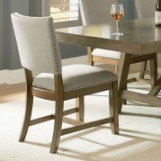 Omaha Upholstered Side Chair (Grey) (Set of 2)
