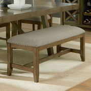 Omaha Upholstered Bench (Grey)