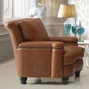 Hutton Leather Chair (Saddle)
