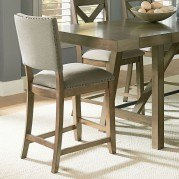 Omaha Upholstered Counter Height Chair (Grey) (Set of 2)