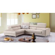 A990 Leather Left Chaise Sectional