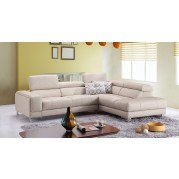 A990 Leather Right Chaise Sectional