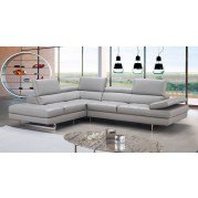 Aurora Leather Left Chaise Sectional
