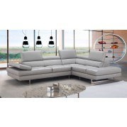 Aurora Leather Right Chaise Sectional