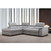 Perla Leather Left Chaise Sectional