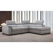 Perla Leather Right Chaise Sectional