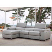 Alba Leather Left Chaise Sectional