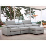 Alba Leather Right Chaise Sectional