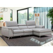 Seren Leather Right Chaise Sectional
