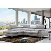 Viola Leather Left Chaise Sectional