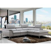 Viola Leather Right Chaise Sectional