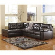 Alliston DuraBlend Chocolate Sectional w/ Left Chaise