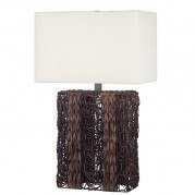 Whistler Table Lamp (Dark Wicker)