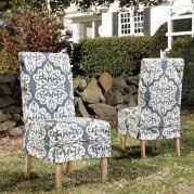 Homecoming Slip Cover Chair (Spicer Indigo) (Set of 2)