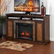 Santa Fe 66 Inch Fireplace TV Console