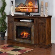 Santa Fe Fireplace/TV Console