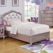 Caroline Panel Bed (Metallic Lilac)