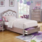Caroline Storage Bed (Metallic Lilac)
