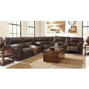 Barrettsville DuraBlend Chocolate Reclining Sectional Set
