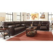 Barrettsville DuraBlend Chocolate Power Reclining Sectional Set