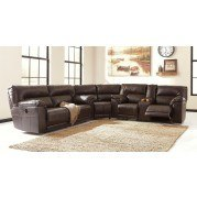 Barrettsville DuraBlend Chocolate Power Reclining Sectional