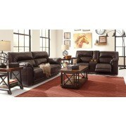 Barrettsville DuraBlend Chocolate Power Reclining Living Room Set