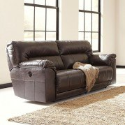 Barrettsville DuraBlend Chocolate Power Reclining Sofa