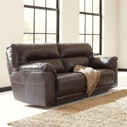 Barrettsville DuraBlend Chocolate Reclining Sofa