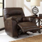 Barrettsville DuraBlend Chocolate Power Rocker Recliner