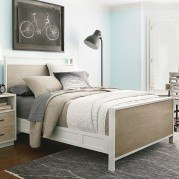myRoom Panel Bed (Parchment/ Gray)