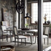 Curated Sedgwick Dining Set w/ Bergere Chairs