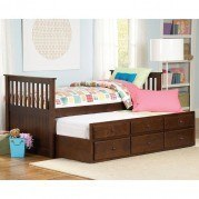 Zachary Storage Trundle Bed (Twin)