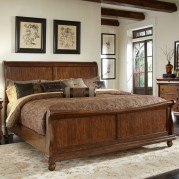 Rustic Traditions Sleigh Bed