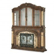 Victoria Palace Curio Fireplace w/ Electric Insert