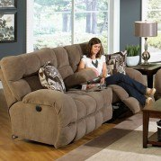 Siesta Power Lay Flat Reclining Console Loveseat (Porcini)