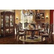 Vendome 72 Inch Round Dining Room Set (Cherry)