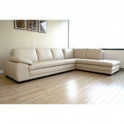 Diana Right Facing Chaise Sectional (Beige)
