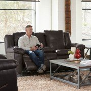 Aria Power Lay Flat Reclining Loveseat w/ Console (Chocolate)