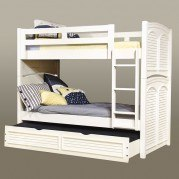Cottage Traditions Twin/Twin Bunk Bed (White)