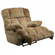 Cloud 12 Power Lay Flat Chaise Recliner (Camel)