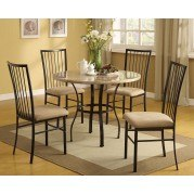 Darell 5-Piece Dining Room Set (White Top)