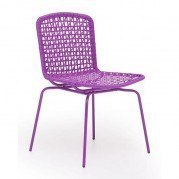 Silvermine Bay Outdoor Dining Chair (Purple) (Set of 4)
