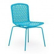 Silvermine Bay Outdoor Dining Chair (Aqua) (Set of 4)