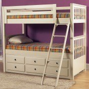 Meadowbrook Bunk Bed with Trundle (White)